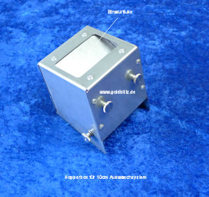 Hopperbox for sluice system 10 cm